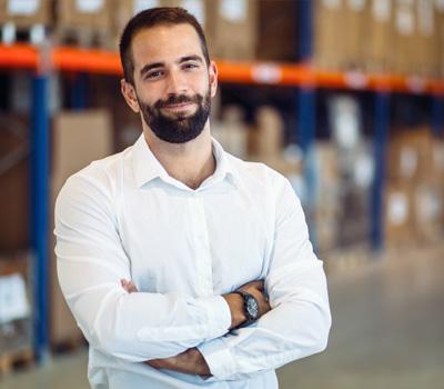 Employee in warehouse